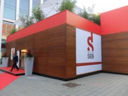 グループセブのIFA2013ブースは、特設の2階建てハウスだ
