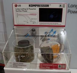 LGの掃除機の圧縮(コンプレッサー)機能