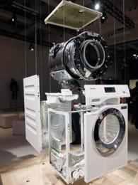 洗濯機の立体分解展示