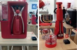 左:ポットタイプのコーヒーメーカー(レッド・ドットデザイン賞受賞)。右:ハンディブレンダー(iFデザイン賞受賞)