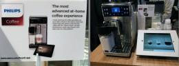 マシンの説明書き。「最先端のお家カフェ体験を!」。