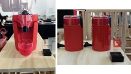 左:コーヒーメーカー(レッド・ドットデザイン賞受賞)。右:コーヒーミル(iFデザイン賞受賞)。
