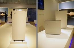 左:フロア設置が前提のPro XL。右:手前からPro M、Pro Lの各ラインナップ。